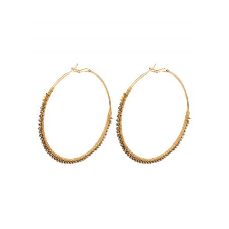 On-trend gold metal hoop earrings  Gold