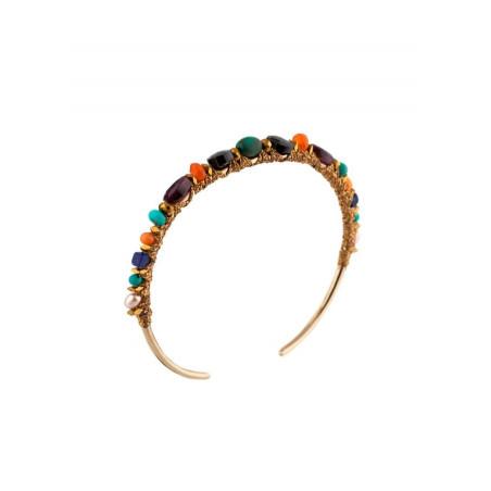 On-trend gold metal bracelet |  Multicolor