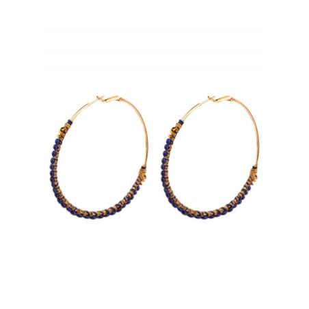 Summery lapis lazuli and hematite hoop earrings   Blue