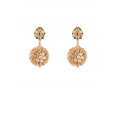 Fashion gold metal crystal earrings | Gold