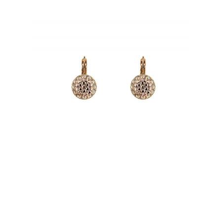 Boucles d'oreilles chic en métal doré et cristaux | Doré
