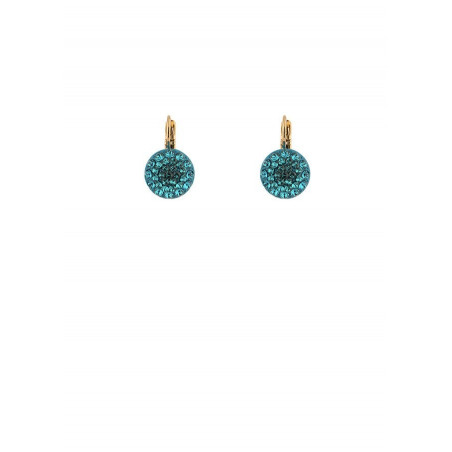 Chic lacquered metal crystal earrings | Zircon