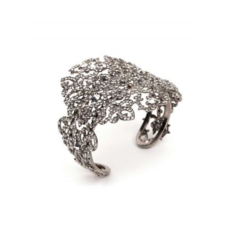 Glamorous gun metal crystal bracelet | Silver