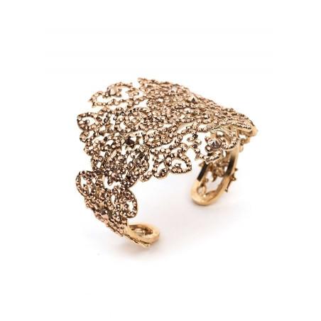 Glamorous gold metal crystal bracelet | Gold
