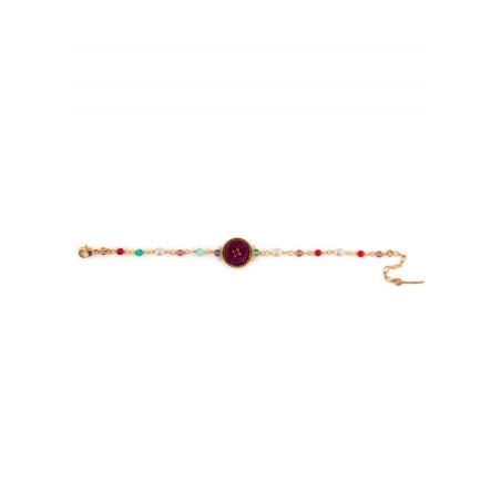 Bracelet luxueux cristaux et velours | Rose65841
