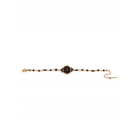 Bracelet élégant perles et velours   Noir65847