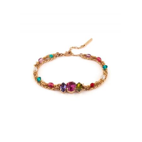 Bracelet original perles et perles de rivière | Bleu