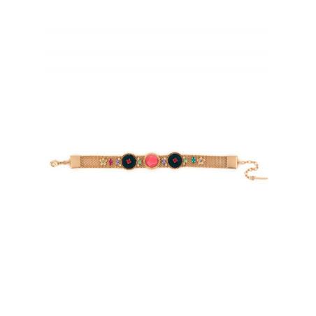 Light bracelet with crystals and velvet | Blue65862