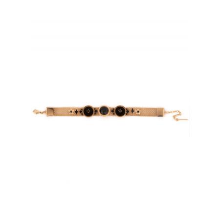 Bracelet chic cristaux et métal doré   Noir65865