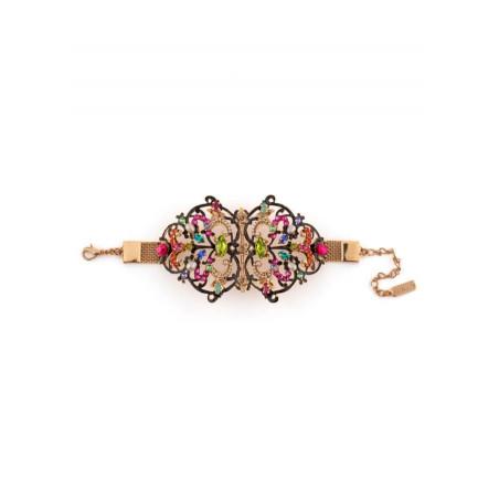 Bracelet féminin cristaux et perles de rivière | Bleu65889