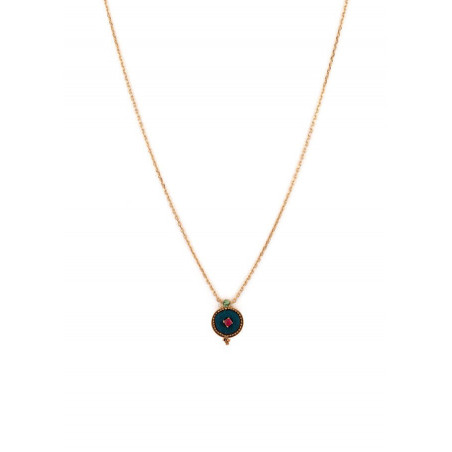 Chic crystal and velvet necklace | Blue