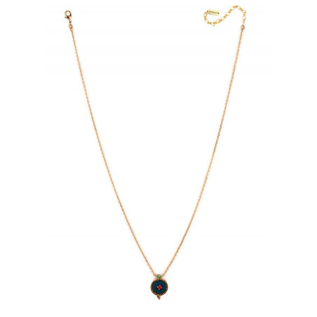 Chic crystal and velvet necklace | Blue65910