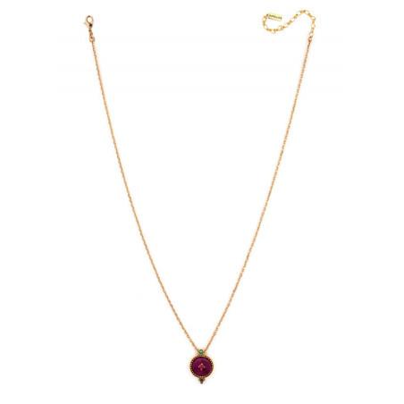 Feminine crystal and velvet necklace | Pink65914