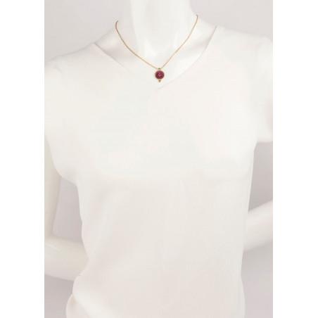 Feminine crystal and velvet necklace | Pink65915