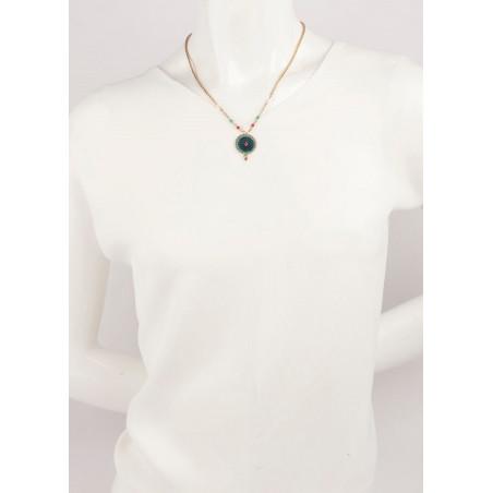 Collier mode cristaux et velours | Bleu65950