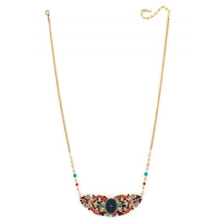 Collier glamour perles et velours | Bleu65969