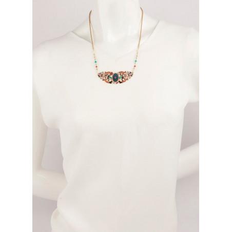 Collier glamour perles et velours | Bleu65970