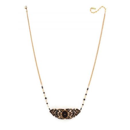 Collier chic perles et velours | Noir65973
