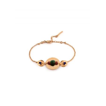 Bracelet féminin lapis lazuli et grenat | Multicolore