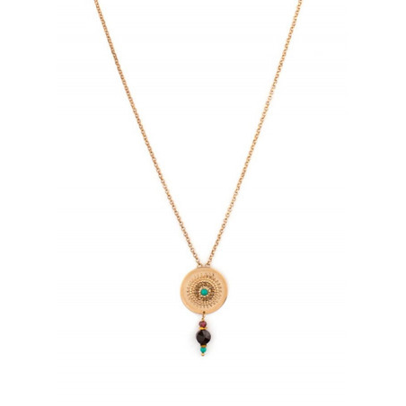 Original necklace with crystals and Turquoise | Multicoloured