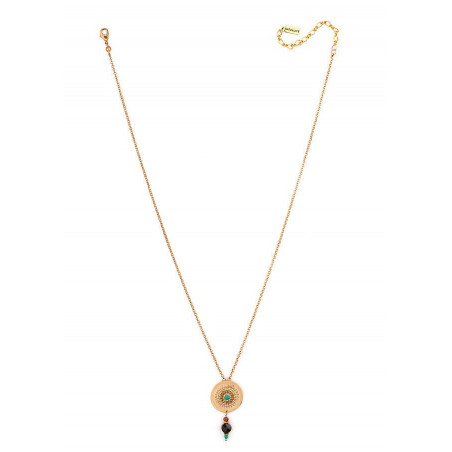 Original necklace with crystals and Turquoise | Multicoloured66263