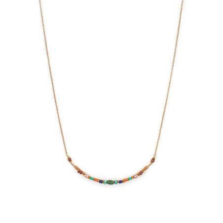 Collier délicat turquoise et grenat | Multicolore