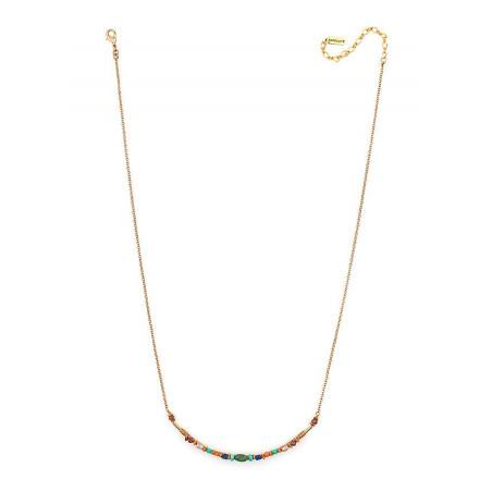 Collier délicat turquoise et grenat | Multicolore66311
