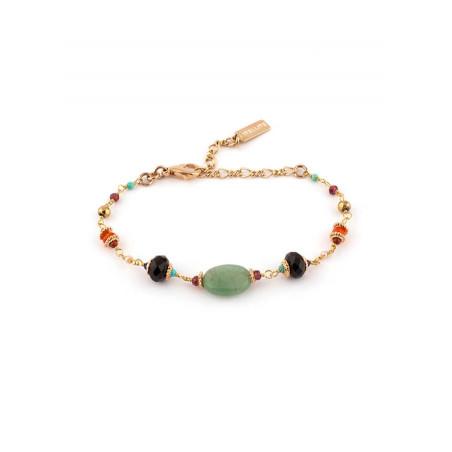 Bracelet féminin aventurine et lapis lazuli | Multicolore