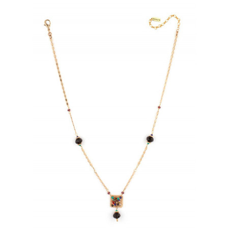 Refined turquoise and lapis lazuli necklace  | Multicoloured66509