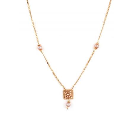 Collier lumineux perle de rivière et perle du Japon | Nacré