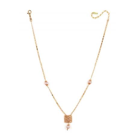 Collier lumineux perle de rivière et perle du Japon | Nacré66513