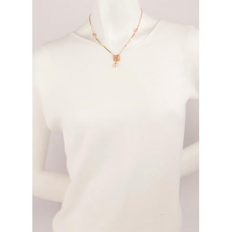 Collier lumineux perle de rivière et perle du Japon | Nacré66514