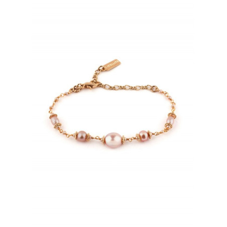 Bracelet raffiné perle de rivière et métal doré | Nacré