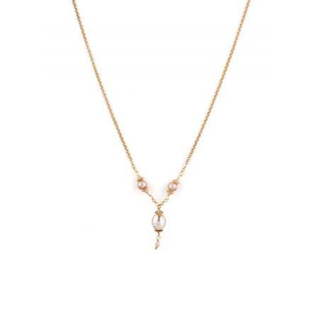 Collier romantique perle de rivière et perle du Japon | Nacré