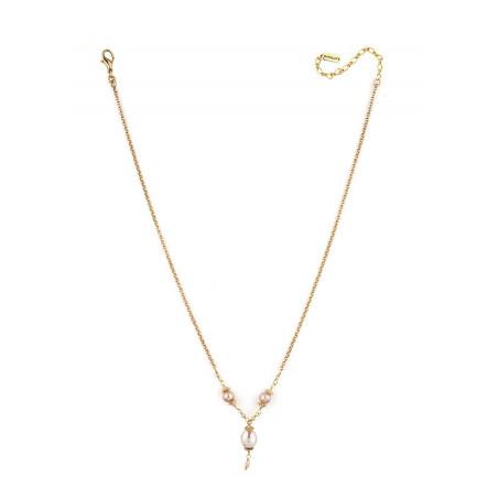 Collier romantique perle de rivière et perle du Japon | Nacré66842
