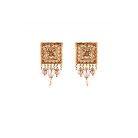 Boucles d'oreilles à clips tendance perle de rivière et perle du Japon   Nacré