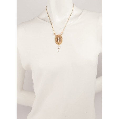 Feminine necklace with freshwater pearls and Japanese beads | Mother-of-pearl66856