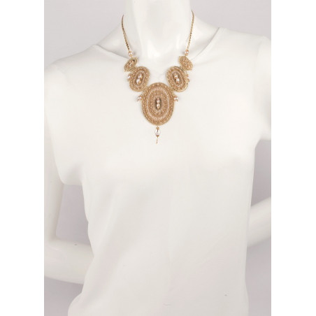 Delicate necklace with freshwater pearls and Japanese beads   Mother-of-pearl66859