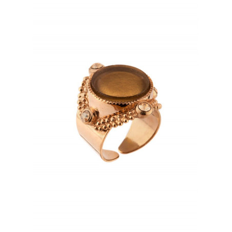 Feminine ring with crystals and gold metal | Golden