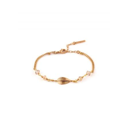 Bracelet mode perles et perles du Japon | Doré