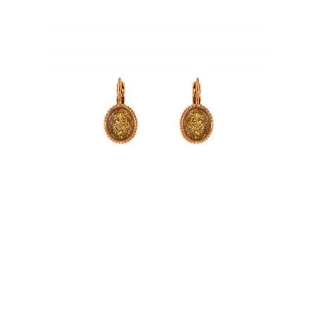 Boucles d'oreilles dormeuses élégantes métal doré | Doré