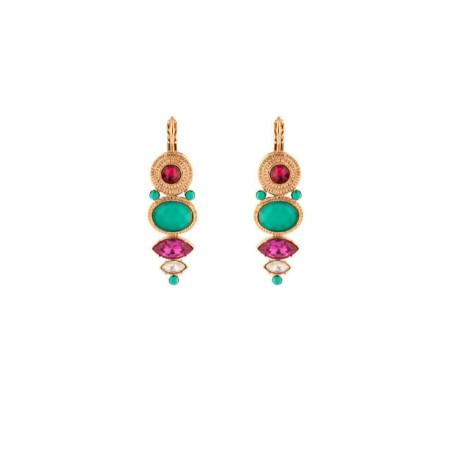 Elegant mother-of-pearl sleeper earrings|turquoise