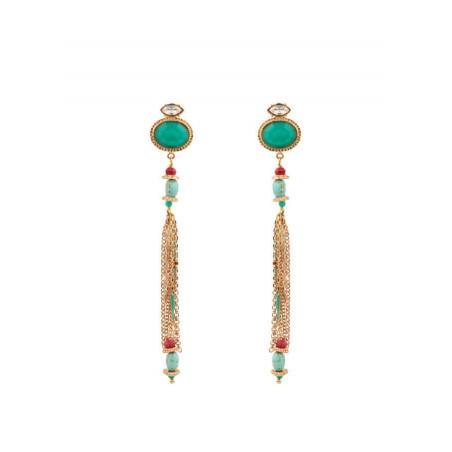 On-trend crystal earrings for pierced ears| turquoise