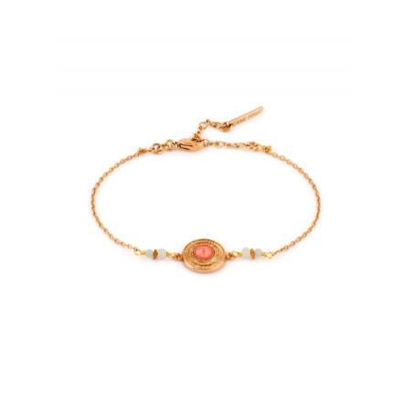 Bracelet élégant métal doré cristal | rouge