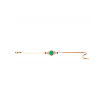 Feminine gold metal and crystal bracelet | turquoise67612