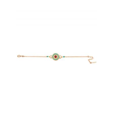 Bracelet bohème métal doré et cristal   turquoise67622