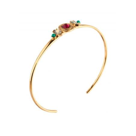 Bracelet jonc chic cristal et turquoise | rouge