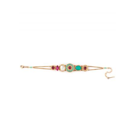 On-trend gold metal crystal bracelet | turquoise67648
