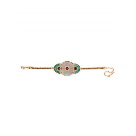 Ethnic gold metal crystal bracelet | mother-of-pearl67658