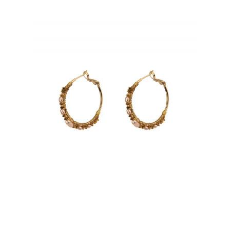 Elegant cornelian hoop earrings for pierced ears | Orange